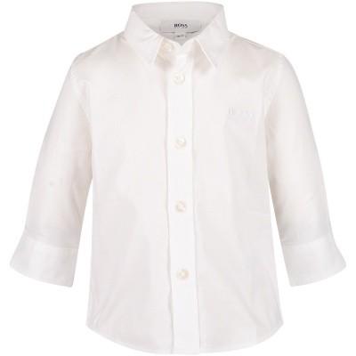 Afbeelding van Boss J05P03 baby blouse wit