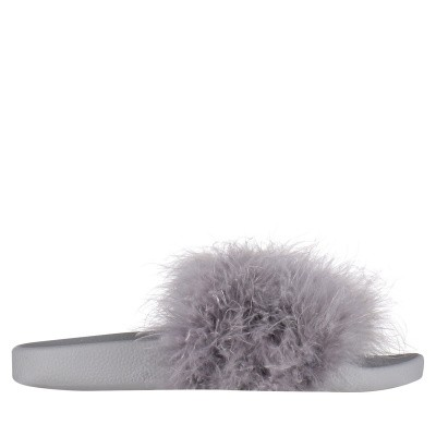 Afbeelding van The White Brand L0303 dames slippers grijs