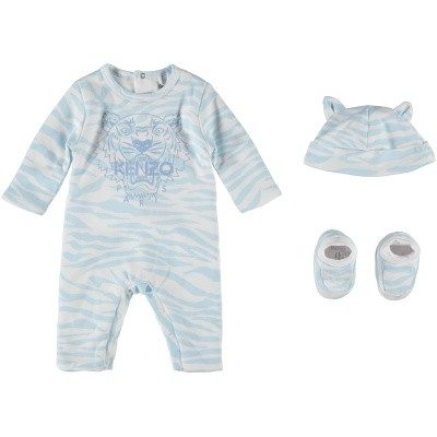 Picture of Kenzo KN99023 baby playsuit light blue