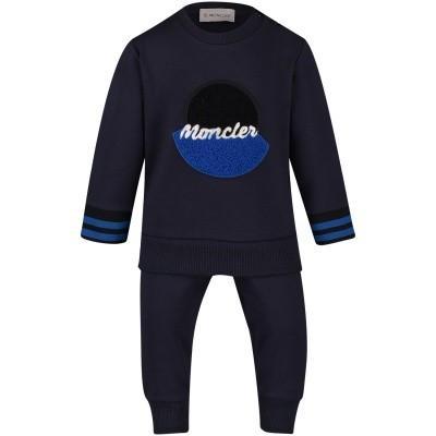 Afbeelding van Moncler 8810805 baby joggingpak navy