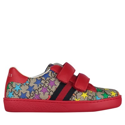 Picture of Gucci 463088 95310 kids sneakers beige