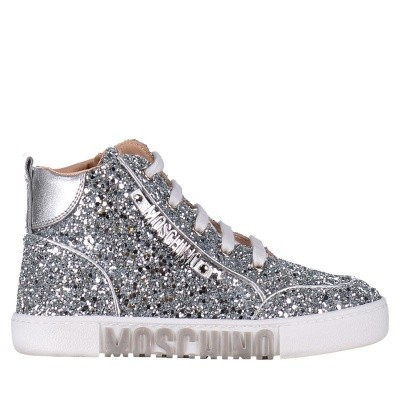 Afbeelding van Moschino 26250 kindersneakers zilver