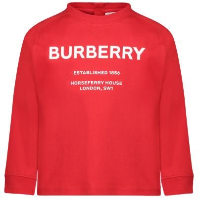 Afbeelding van Burberry 8012789 baby t-shirt rood