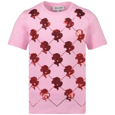Afbeelding van Reinders TBS19G481D kinder t-shirt roze