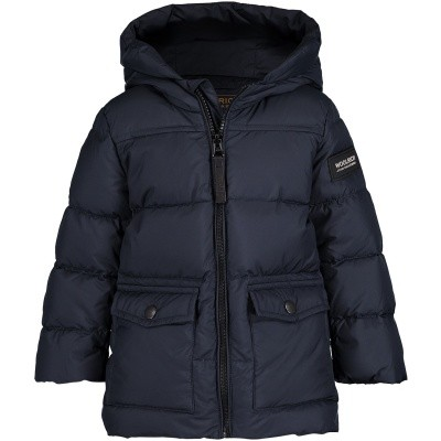 Picture of Woolrich WKCPS2064 baby coat navy