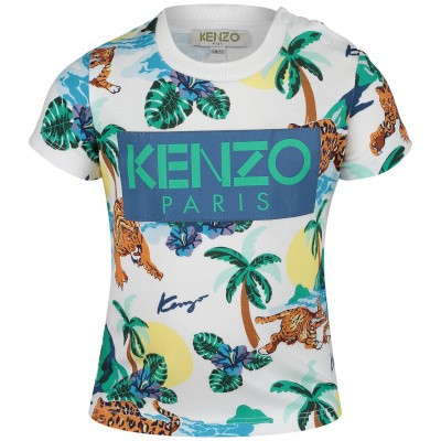 Picture of Kenzo KN10598BB baby shirt white