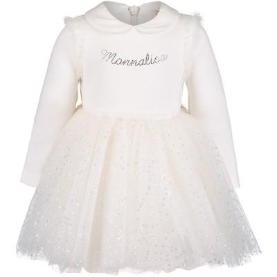 Afbeelding van MonnaLisa 732904AI babyjurkje off white