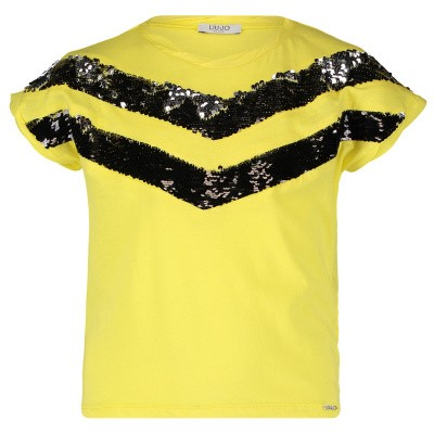 Picture of Liu Jo G19007 kids t-shirt yellow
