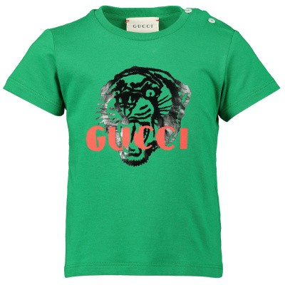 Picture of Gucci 548034 baby shirt green