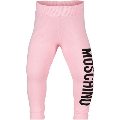 Picture of Moschino MDP026 baby legging light pink