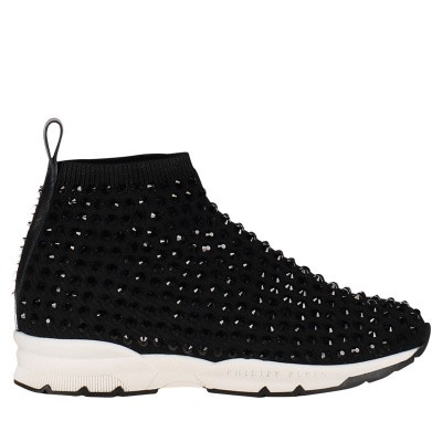 Picture of Philipp Plein GSC0071 kids sneakers black
