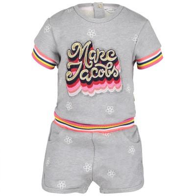 Afbeelding van Marc Jacobs W04161 baby jumpsuit grijs
