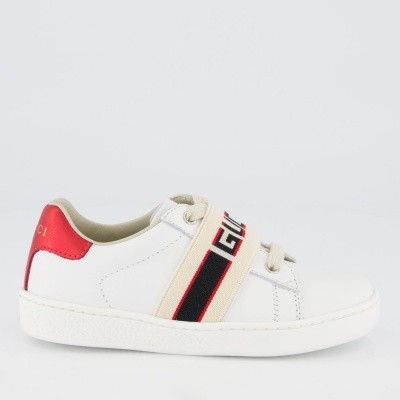 Picture of Gucci 553053 kids sneakers white