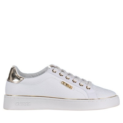 Picture of Guess FL5BEKFAL12 womens sneakers white