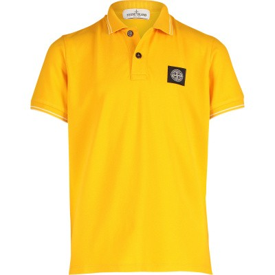 Picture of Stone Island 701621348 kids polo shirt yellow