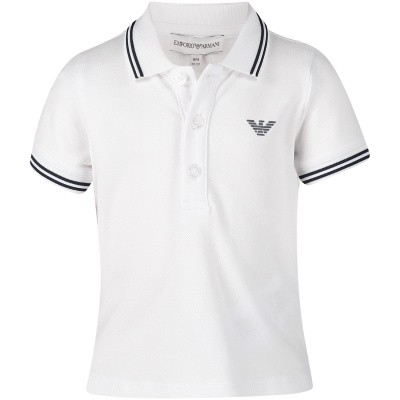 Picture of Armani 8NHF05 baby poloshirt white