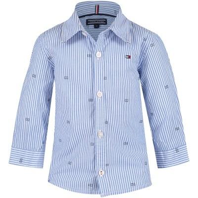 Afbeelding van Tommy Hilfiger KB0KB04051 B baby blouse licht blauw