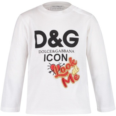 Afbeelding van Dolce & Gabbana L2JTAY G7QED baby t-shirt wit