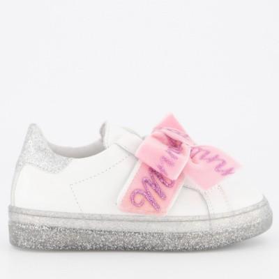 Afbeelding van MonnaLisa 8C4008 kindersneakers licht roze