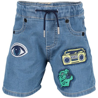 Picture of Kenzo KN25537 baby shorts jeans
