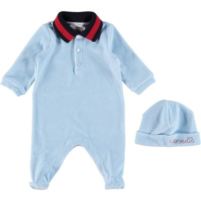 Picture of Gucci 516324 baby set light blue