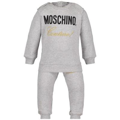 Afbeelding van Moschino MDK01H baby joggingpak grijs