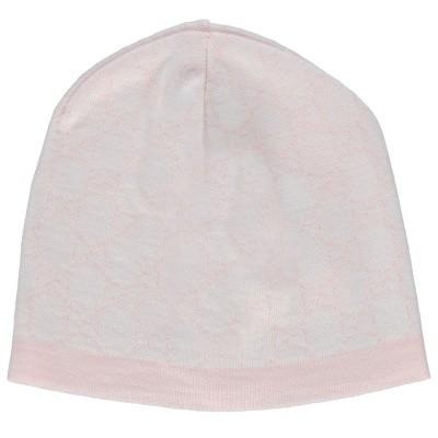 Afbeelding van Gucci 418599 baby mutsje licht roze