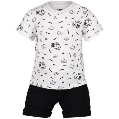 Picture of Karl Lagerfeld Z98040 baby playsuit black