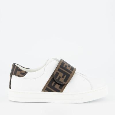 Picture of Fendi JMR297 kids sneakers white
