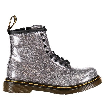 Picture of Dr. Martens 24290029 kids boots silver