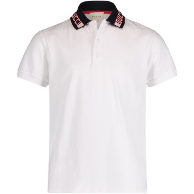 Picture of Gucci 522342 kids polo shirt white