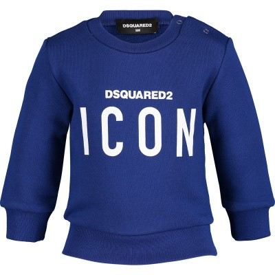 Picture of Dsquared2 DQ03G3 baby sweater cobalt blue