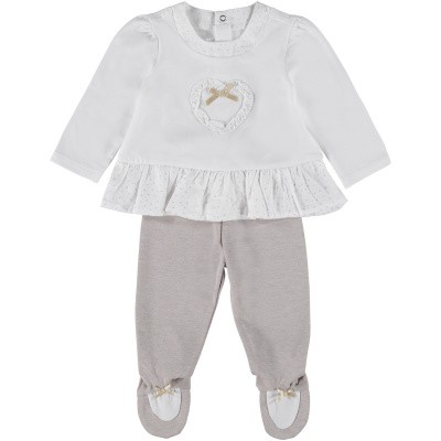 Picture of Mayoral 1501 baby playsuit white