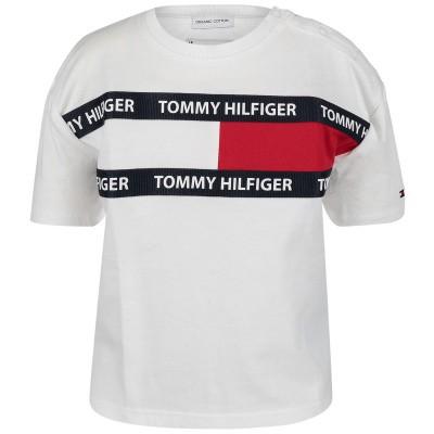 Picture of Tommy Hilfiger KS0KS00036B baby shirt white