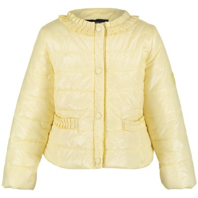 Picture of MonnaLisa 393103 baby coat yellow