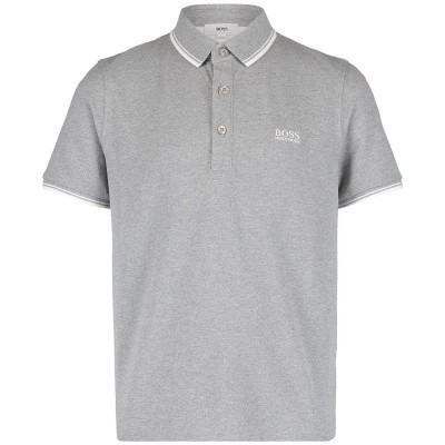 Picture of Boss J25D57 kids polo shirt grey