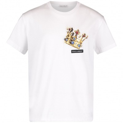 Picture of Dolce & Gabbana L4JT7N G7REY kids t-shirt white