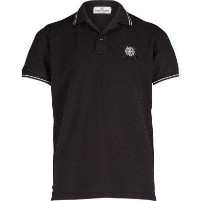 Picture of Stone Island 701621348 kids polo shirt black