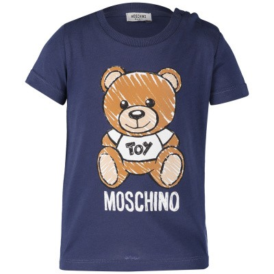 Picture of Moschino MXM01N baby shirt navy