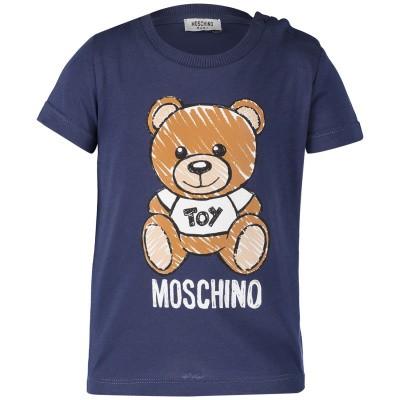 Afbeelding van Moschino MXM01N baby t-shirt navy
