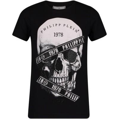 Afbeelding van Philipp Plein BTK0609 kinder t-shirt zwart