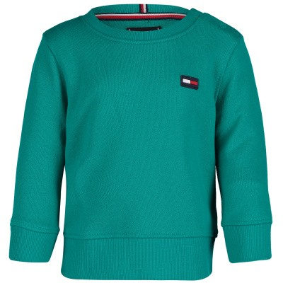 Picture of Tommy Hilfiger KB0KB04657 B baby sweater green
