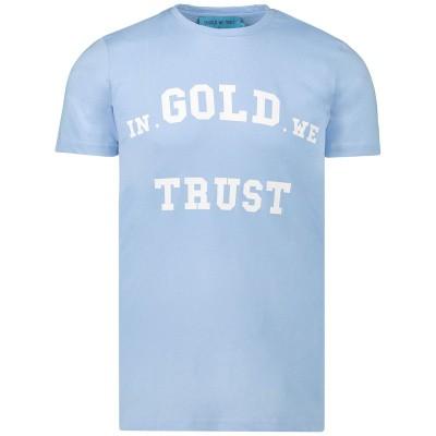 Afbeelding van in Gold We Trust WK0011090121TS heren t-shirt licht blauw
