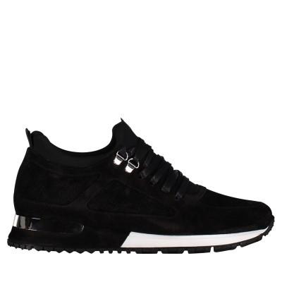 Afbeelding van Mallet TE1018 SUEDE heren sneakers zwart
