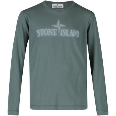 Picture of Stone Island 691621155 kids t-shirt dark green