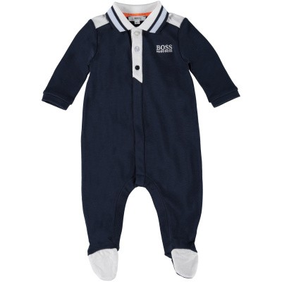 Picture of Boss J97138 baby playsuit navy