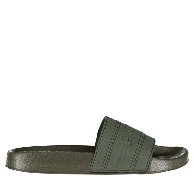 Picture of Antony Morato MMFW01098 mens flipflops army