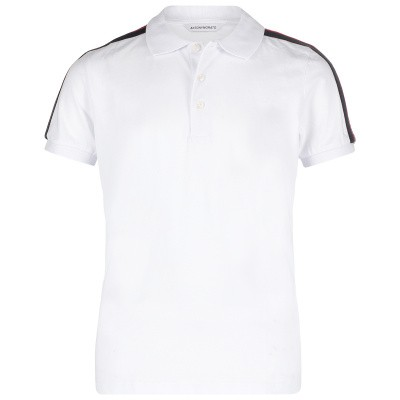 Picture of Antony Morato MKKS00388 kids polo shirt white