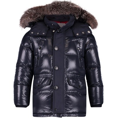 Picture of Moncler 4234225 kids jacket navy
