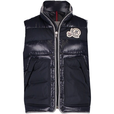 Picture of Moncler 4335885 kids bodywarmer navy